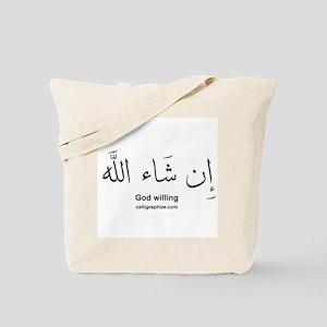 God Willing Insha'Allah Arabic Tote Bag