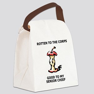 Navy-SCPO-Rotten-To-The-Corps Canvas Lunch Bag