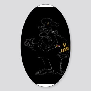 Navy-Humor-Just-Work-Poster-E9 Sticker (Oval)