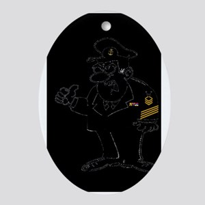 Navy-Humor-Just-Work-Poster-E9 Oval Ornament