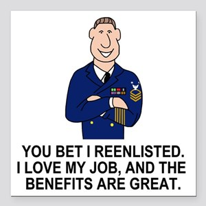 """Navy-Humor-You-Bet-Male- Square Car Magnet 3"""" x 3"""""""
