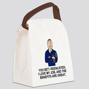Navy-Humor-You-Bet-Male-MCPO Canvas Lunch Bag