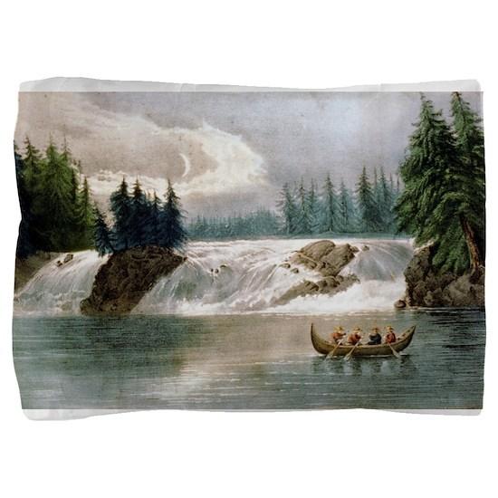 Falls of the Ottawa River Canada - 1856 Pillow Sha