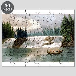 Falls of the Ottawa River Canada - 1856 Puzzle