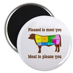 Meat to Please You Round Magnet