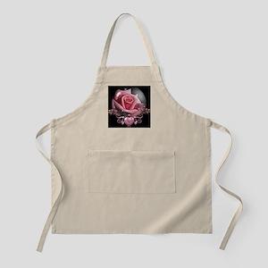 Pink Rose Globe BBQ Apron