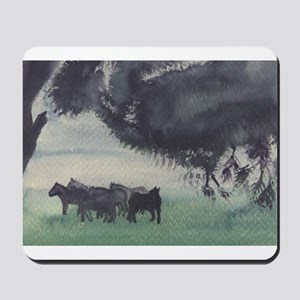 Horses in the Mist Mousepad