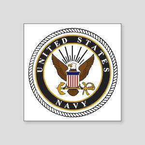 """Navy-Logo-9-black.gif Square Sticker 3"""" x 3"""""""