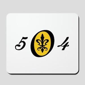 Fleur 504, gold Mousepad