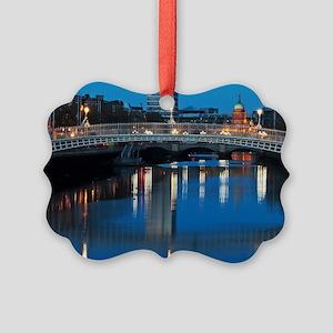 Dublin at night Picture Ornament