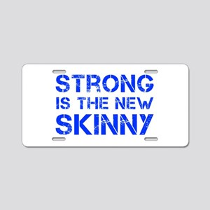 strong-is-the-new-skinny-cap-blue Aluminum License