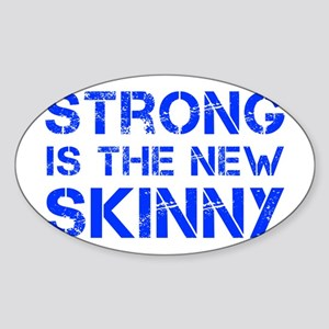 strong-is-the-new-skinny-cap-blue Sticker