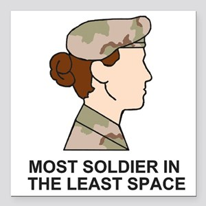 "Army-Most-Soldier-Redhea Square Car Magnet 3"" x 3"""