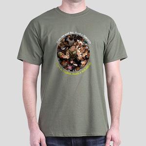 Thank a Teacher, & a Soldier Dark T-Shirt