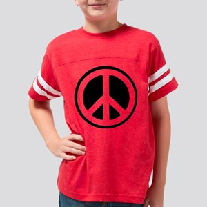simpleBW_ashgrey Youth Football Shirt