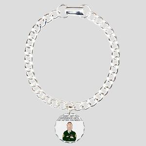 Army-Humor-Field-Experie Charm Bracelet, One Charm