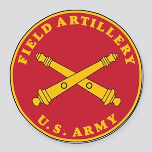 Army-Artillery-Branch-Plaque-Bonn Round Car Magnet