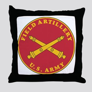 Army-Artillery-Branch-Plaque-Bonnie.g Throw Pillow