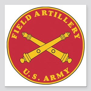 """Army-Artillery-Branch-Pl Square Car Magnet 3"""" x 3"""""""