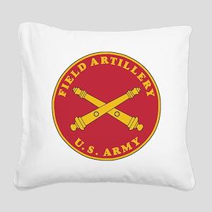 Army-Artillery-Branch-Plaque- Square Canvas Pillow