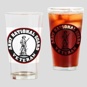 ARNG-Veteran-Black-Red Drinking Glass