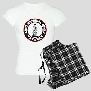 ARNG-Veteran-Black-Red Women's Light Pajamas