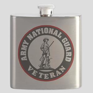 ARNG-Veteran-Black-Red Flask