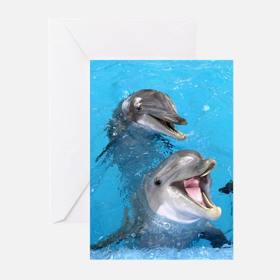 Darling Dolphins Greeting Cards