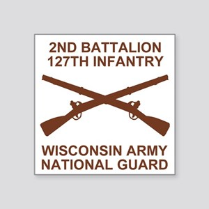 "ARNG-127th-Infantry-Shirt-9 Square Sticker 3"" x 3"""