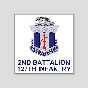 "ARNG-127th-Infantry-Shirt-3 Square Sticker 3"" x 3"""