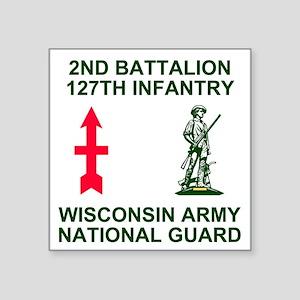 "ARNG-127th-Infantry-Shirt-1 Square Sticker 3"" x 3"""
