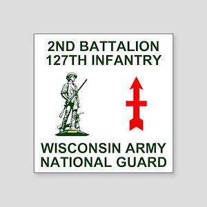 "ARNG-127th-Infantry-Shirt-4 Square Sticker 3"" x 3"""
