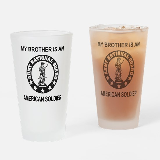 ARNG-My-Brother-Black.gif Drinking Glass