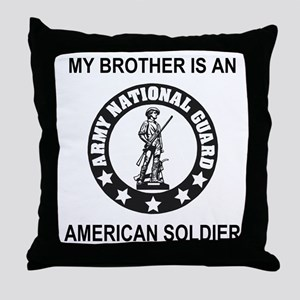 ARNG-My-Brother-Black Throw Pillow