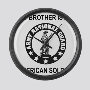 ARNG-My-Brother-Black Large Wall Clock