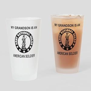 ARNG-My-Grandson-Black Drinking Glass