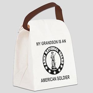 ARNG-My-Grandson-Black Canvas Lunch Bag