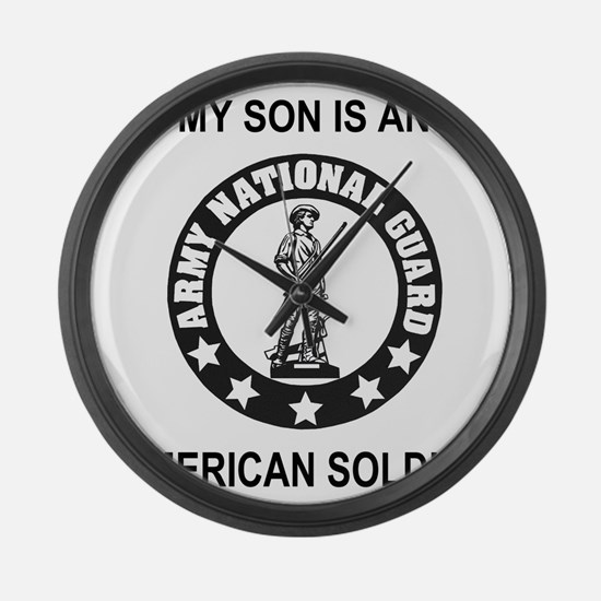 ARNG-My-Son-Black.gif Large Wall Clock