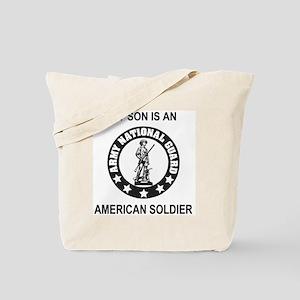 ARNG-My-Son-Black Tote Bag