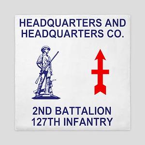 ARNG-127th-Infantry-HHC-Shirt-2-Blue.g Queen Duvet