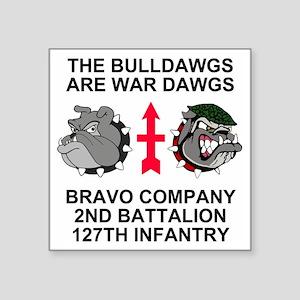 "ARNG-127th-Infantry-B-Co-Sh Square Sticker 3"" x 3"""