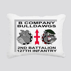 ARNG-127th-Infantry-B-Co Rectangular Canvas Pillow