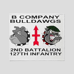 ARNG-127th-Infantry-B-Co-Calendar.gi Throw Blanket