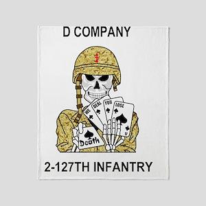 ARNG-127th-Infantry-D-Co-Mousepad.gi Throw Blanket