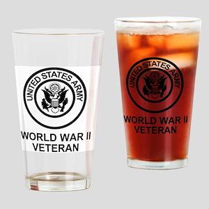 Army-WWII-Shirt Drinking Glass