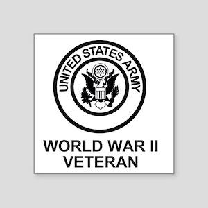 """Army-WWII-Shirt Square Sticker 3"""" x 3"""""""