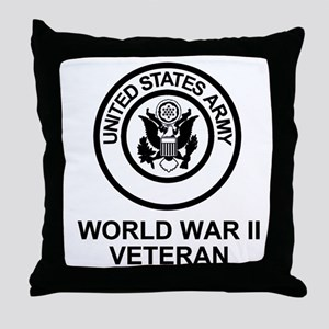 Army-WWII-Shirt Throw Pillow
