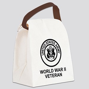 Army-WWII-Shirt Canvas Lunch Bag
