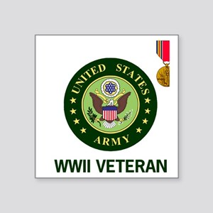 """Army-WWII-Shirt-2 Square Sticker 3"""" x 3"""""""