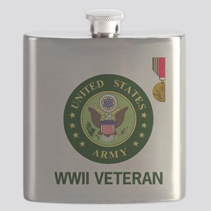 Army-WWII-Shirt-2 Flask
